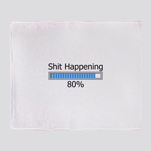Shit Happening Progress Bar Throw Blanket