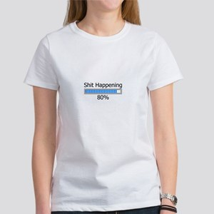 Shit Happening Progress Bar Women's T-Shirt