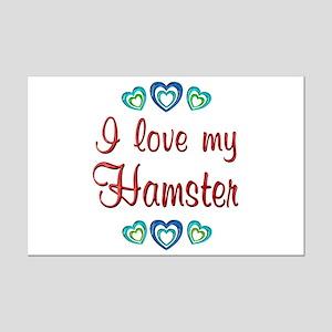 Love My Hamster Mini Poster Print