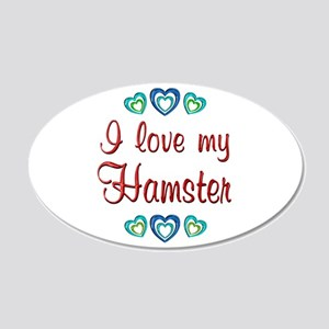 Love My Hamster 22x14 Oval Wall Peel