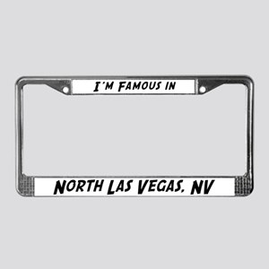 Famous in North Las Vegas License Plate Frame