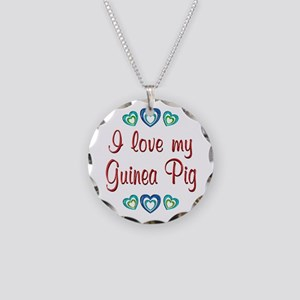 Love My Guinea Pig Necklace Circle Charm