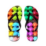 Coloured crayons flip flops