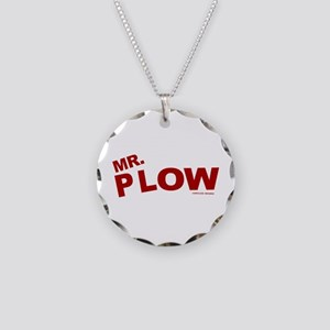 Mr Plow Necklace Circle Charm