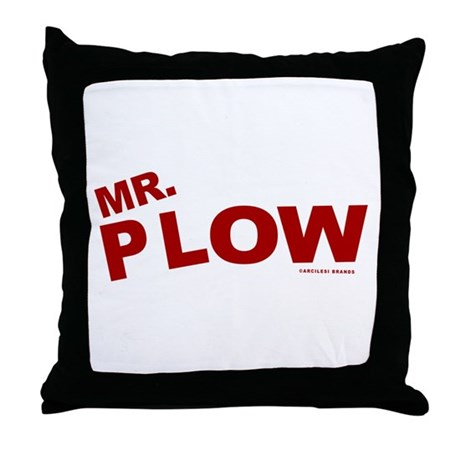 Mr Plow Throw Pillow