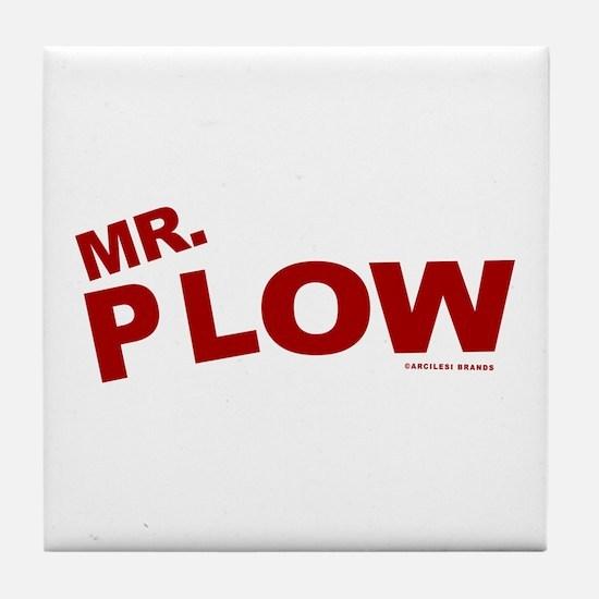 Mr Plow Tile Coaster