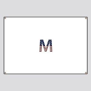 M Stars and Stripes Banner