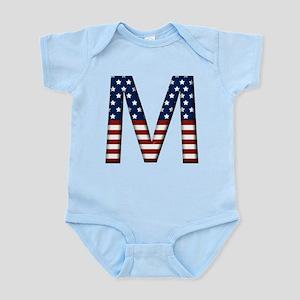 M Stars and Stripes Infant Bodysuit