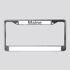 Maine Stars and Stripes License Plate Frame