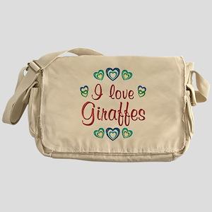 I Love Giraffes Messenger Bag