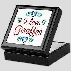 I Love Giraffes Keepsake Box