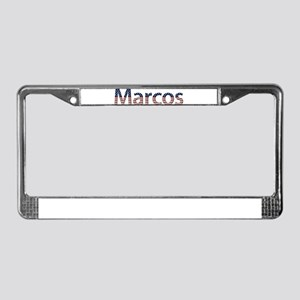 Marcos Stars and Stripes License Plate Frame