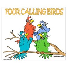 Four Calling Birds Poster