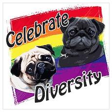 Celebrate Diversity Rainbow P Poster
