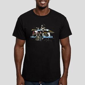 Drummer Men's Fitted T-Shirt (dark)