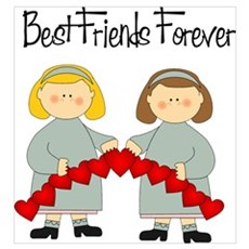BFF Hearts-Best Friends Canvas Art