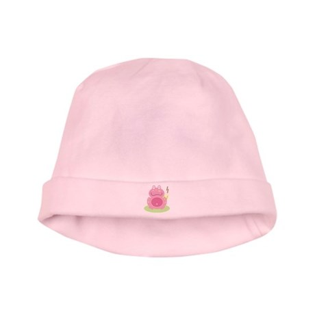 Fiona the pink Frog baby hat