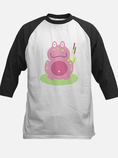 Fiona the pink Frog Kids Baseball Jersey
