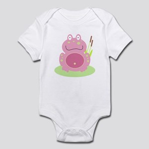 Fiona the pink Frog Infant Bodysuit