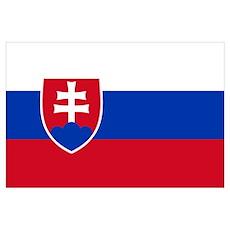Flag of Slovakia Poster