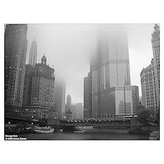 Chicago Rain Poster