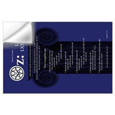 "Liber Oz 35x23"" - Lapis Wall Decal"