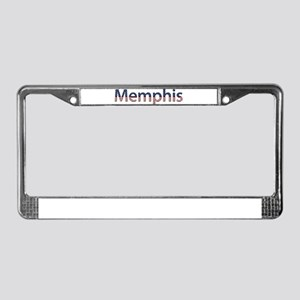 Memphis Stars and Stripes License Plate Frame