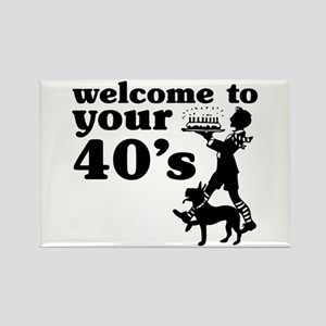 Welcome to your 40's Rectangle Magnet