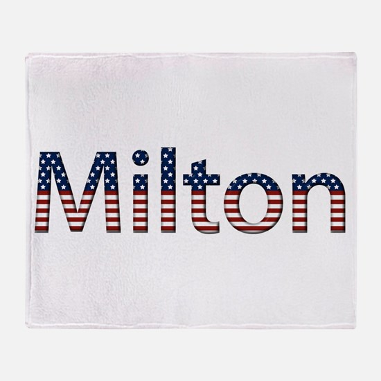 Milton Stars and Stripes Throw Blanket
