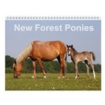 New Forest Ponies wall calendar