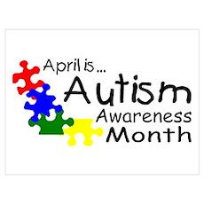 April Is Autism Awareness Month Poster