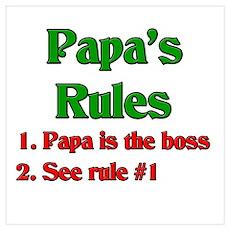 Italian Papa's Rules Poster