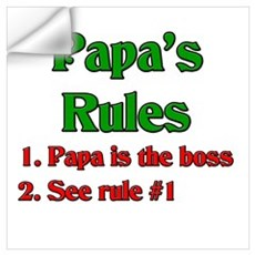 Italian Papa's Rules Wall Decal