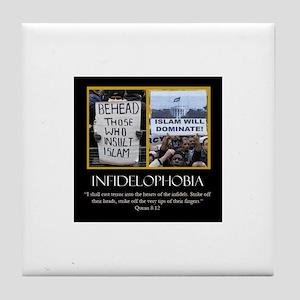 INFADELPHOBIA Tile Coaster