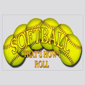 Softballs roll