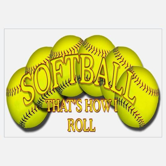 Softballs roll