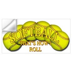 Softballs roll Wall Decal