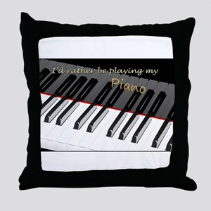 Playing My Piano Throw Pillow