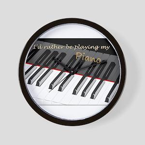 Playing My Piano Wall Clock