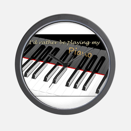 Playing My Piano Wall Clock