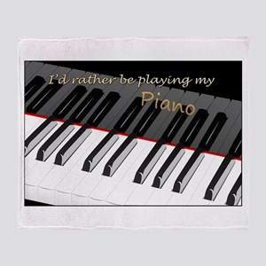 Playing My Piano Throw Blanket
