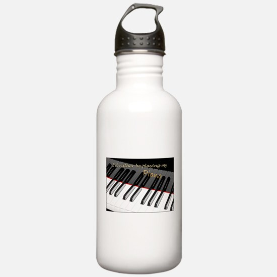 Playing My Piano Water Bottle