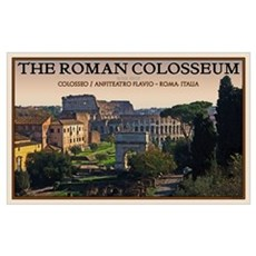 Colosseum from Forum Poster