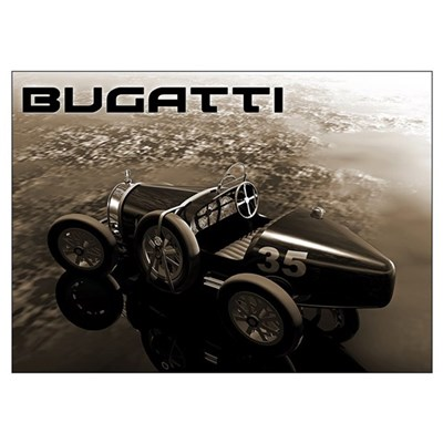 Bugatti Racer Poster