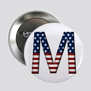 M Stars and Stripes Button