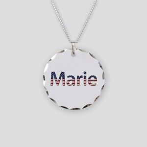 Marie Stars and Stripes Necklace Circle Charm