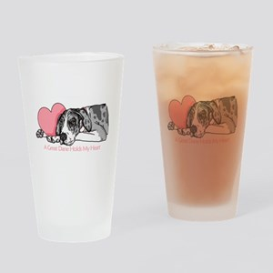 MerleB UC Holds Heart Drinking Glass