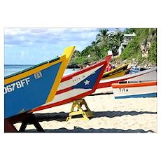 Fishing boats, Puerto Rico Poster