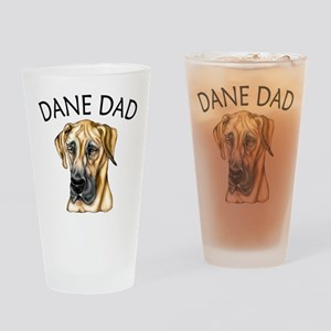 Great Dane Dad Fawn UC Drinking Glass