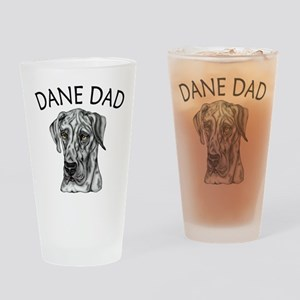 Great Dane Dad Merle UC Drinking Glass